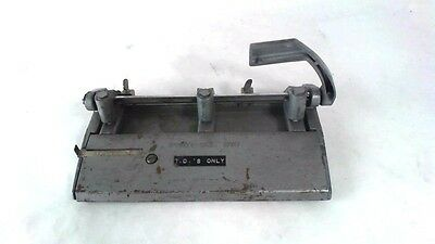 Vintage Military Foothill 310 Heavy Duty Fully Adjustable 3 Hole Punch