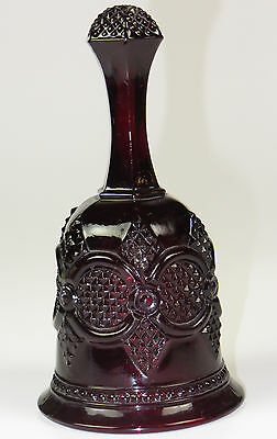 Avon Ruby Red Glass Christmas Bell Collectible 1979 Good Condition