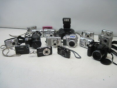 Lot of 17 Digital Cameras & 1 Film Fuji Untested Good Physical Conditions