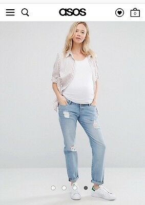 ASOS Maternity Brady Boyfriend Jeans - Over The Bump Waistband SIZE 6 SOLD OUT