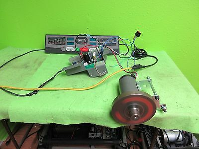 2.25  HP treadmill motor, complete setup,w/ controller, cables, many projects