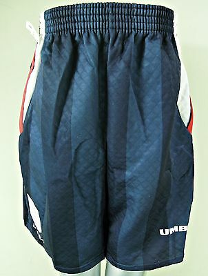 Umbro Navy Blue Football Sports Shorts With England Crest, Size 30, Mb060