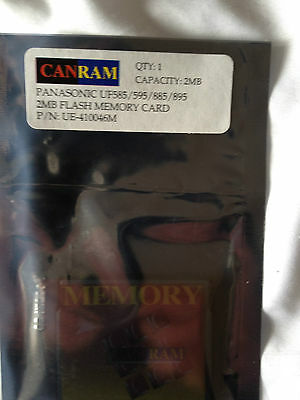 NEW Panasonic Panafax Memory Flash Card 2MB, UF585/595/885/895