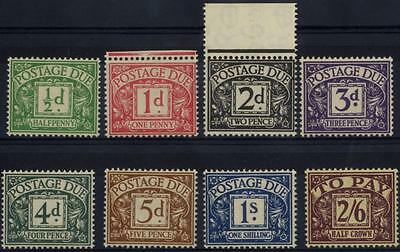 GB SG D27-34/CW PD1-8 1937-8 Postage Due set of 8