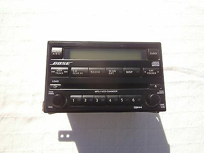 2005 To 2007 Nissan Pathfinder-Xterra Bose 6 Cd,mp3 Factory In Dash Radio Oem.