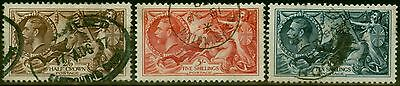 GB 1934 Re-Engraved Seahorse set of 3 SG450-452 Fine Used