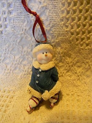 Boyds CANDY SWEETSKATES ~ Snow Doodles resin ornament ~ mint