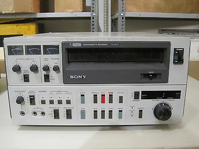 """Sony Umatic 3/4"""" cassette recorder/player"""