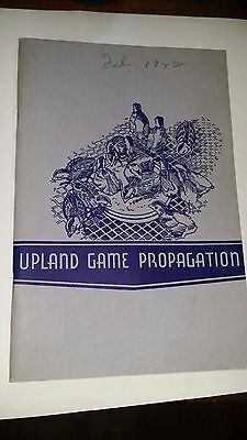 Upland Game Propagation Book 1942 by Western Cartridge Company