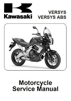 Kawasaki Versys 650 Service Repair Maintenance Workshop **PDF** Manual 2010-2014