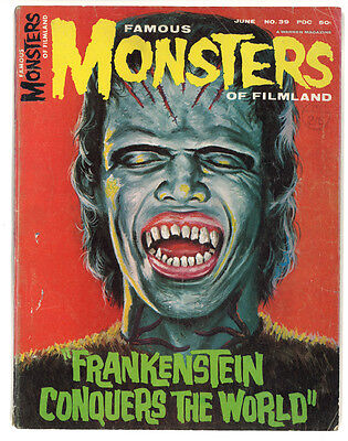 Famous Monsters of Filmland No 39 June 1966 HORROR MAGAZINE