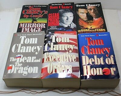 Lot Of 6 Tom Clancy PaperBack Books Great Reading!