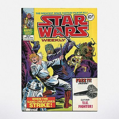 STAR WARS WEEKLY - No. 2 ( UK / 1978 ) ***VERY GOOD CONDITION***