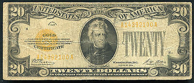 Fr. 2402 1928 $20 Twenty Dollars Gold Certificate Currency Note