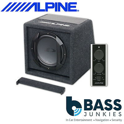 "Alpine SWE-815 Car 8"" Inch 20CM 300 Watts Amplified Subwoofer With Remote"