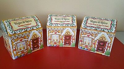 Lot Of 3 - Nib Cherished Teddies Sugar And Spice Collection 1998
