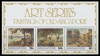 1976 SINGAPORE PAINTINGS OF OLD SINGAPORE S. SHEET  MINT NEVER HINGED SCT.256a
