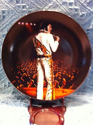 """New 1992 Delphi Elvis: In Performance """"on Stage In Wichita, 1974"""" 81/2"""" Plate"""