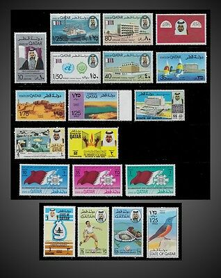1973 To 1976 Qatar Lot One Complete Series + Incomplete Hinged To Little H