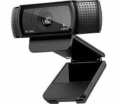 Logitech USB HD Pro C920 Webcam with Auto-Focus and Microphone - Black