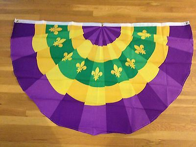 Mardi Gras Bunting Parade FREE SHIP flag New Orleans Banner Party FREE SHIPPING