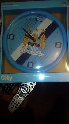 Bnib Official Manchester City Fc Stripe Circular Wall Clock