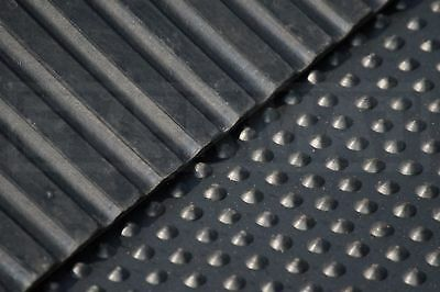 Brand New Heavy Duty rubber Stable Mat 6ftx4ftx17mm thick black Free Post