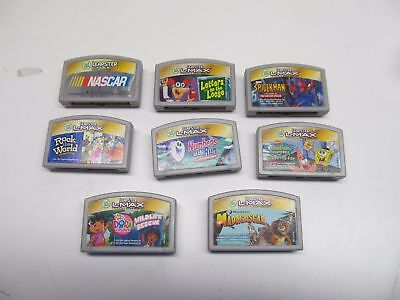 Lot of 8 Leapster Leap Frog L-Max Leap Pad Game Cartridges NASCAR Rock the World