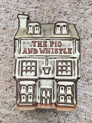 Tremar Money Box THE PIG AND WHISTLE Vintage Cornish Pottery