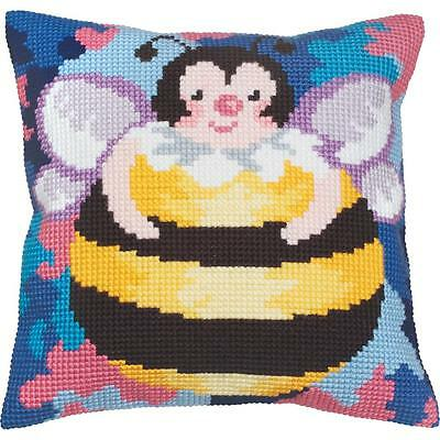 Collection D'Art - HONEY BEE - Needlepoint Pillow Kit - Large Grid
