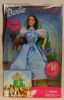 Mattel 1999 The Wizard of Oz BARBIE as DOROTHY with TOTO Doll #25812 NEW in BOX
