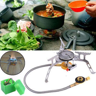 Cookout Portable Gas Stove Furnace Split Burner Outdoor Camping Hiking Picnic