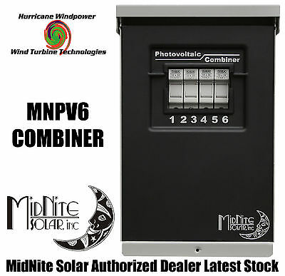 Midnite Solar Mnpv6 Pv Combiner Box For Solar Panel Wind Turbine Wind Generator