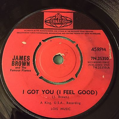 "7"" james brown i got you ( i feel good ) pye soul mod"