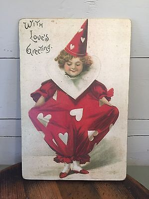 """MOONLIGHT & ROSES MARTA E. PETERS WITH LOVE'S GREETING VALENTINE PLAQUE 18x12"""""""