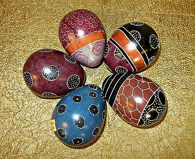 """EGGS hand carved stone Made in Kenya lot of 5 size is 3"""""""