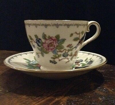 Vintage Aynsley Pembroke (Gold Trim) Bone China Tea Cup And Saucer Mint