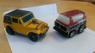 1976 IDEAL HOLLIS NY & 1981 TAKARA Vintage Small Toys Lot Yellow Jeep Matchbox