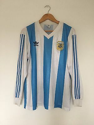 Retro ARGENTINA 1990/1991 L/S Home Football Shirt (L) Vintage Soccer Jersey Rare