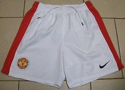 ** Manchester United Football Shorts - Nike - Home Red & White - 10/12 Years **