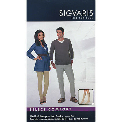 SIGVARIS 862C - 863C Select Comfort - Unisex Open Toe Knee-Hi Compression Socks