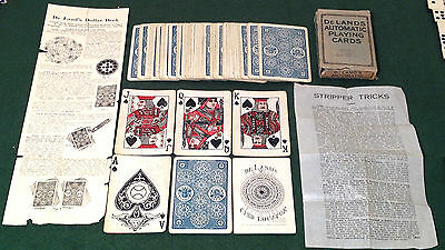 ANTIQUE 1918 SS ADAMS  * DELAND'S AUTOMATIC *  PLAYING CARDS   N2  Free UK Post