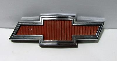 Chevrolet truck grille emblem Red Bowtie original 1967 1968 part # 3893742