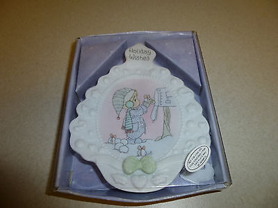 Precious Moments Sweet Tree Tidings Collector's Plate Dish Holiday Wishes 141798