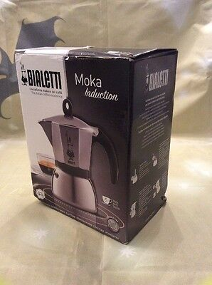 Bialetti Stainless Steel/ Aluminium Moka Induction, Silver (6 Cup)