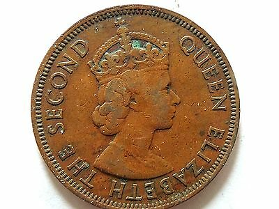 1955 British Caribbean One (1) Cent Coin