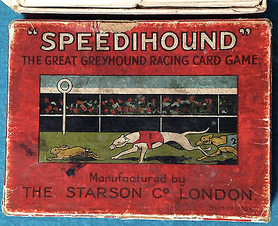 VINTAGE 1930s * SPEEDIHOUND * GREYHOUND RACING PLAYING CARDS GAME   Free UK Post