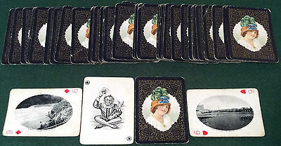 Antique 1905 Goodall * Grand Trunk Pacific Railway * Souvenir Playing Cards Sca6