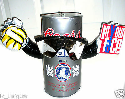"Coors Light Inflatable Beer Can Sun Glasses USA FIFA Soccer 14"" Blow Up In Face"