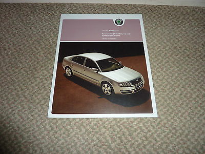 The New Skoda Superb Retail Price List And Specification Brochure 2005